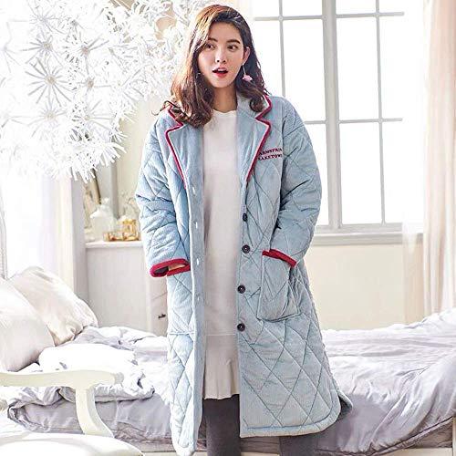 DXX-HR Grueso de Las Mujeres Suaves Batas Polar de Coral Larga Caliente Albornoz Escudo Felpa Kimono Ropa de Noche del camisón SPA Felpa Puede Estar Fuera Desgastado Homewear, XL
