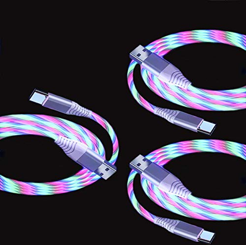 Akiimy - Cable de carga LED de carga rápida de 1,5 m,...