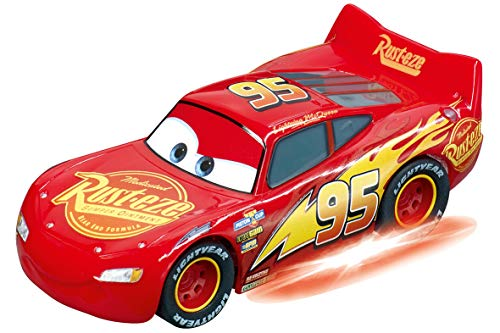 Carrera Go 20064150 Disney Pixar Cars-Lightning McQueen-Neon Nights, rot