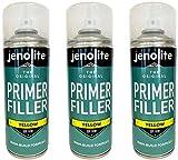 3 x Jenolite Apprêt Pour Peinture - Apprêt Flexible Aux Propriétés De Remplissage élevées - Jaune - 400ML…