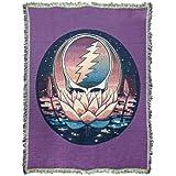 Little Hippie Grateful Dead Lotus Steal Your Face Woven Cotton Blanket