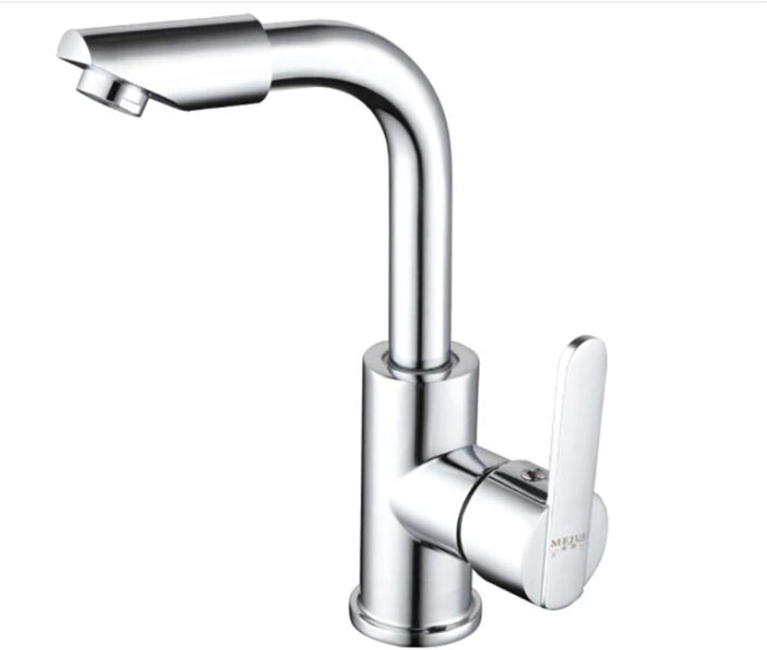 Bathroom Sink Basin Lever Mixer Tap 360 Degree redating Single Hole Copper Cold and Hot Face Pot Faucet