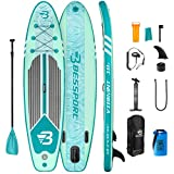Bessport Inflatable Stand Up Paddle Board 11' x 33' x 6' Paddle Boards for Adults, Youth - All Skill Levels with ISUP/SUP Accessories, Non-Slip Deck   Floatable Paddle   Wide Stance for Paddling, Yoga