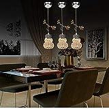 YSH Lámpara de Araña/Luces de Techo/Lámpara, Lámpara de Araña de Cristal Creativa Led, en Forma de Luces de Cabeza Gourde Simple Restaurant Lounge Decoración de la Sala de Bodas Lustre Matrimonio