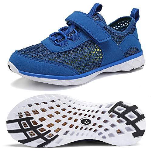 CIOR Boys & Girls Water Shoes Kids Swim Shoes Amphibious Aqua Shoes Sport Sneakers Light Weight Shoes Athletic Shoes for Swimming,Diving,WalkingU118SSXT002-Royal-33