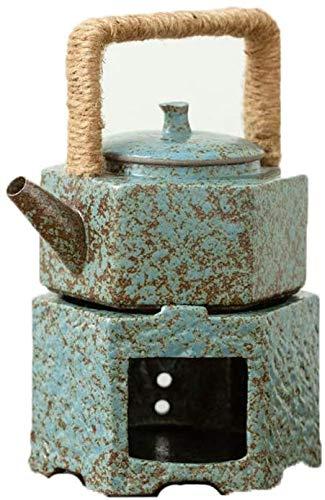 Fikujap Tetera Cálida Combinación Paquetes De Combinación De Porcelana De Cerámica Horno Calentador Vela Cálida Té Estufa Té Acogedor para La Tetera,A