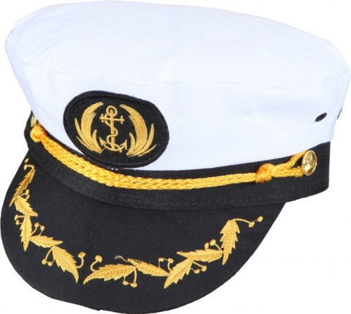 Chapeau Capitaine de Luxe, largeur tête 56, carnaval marin marin Admiral