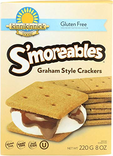 Kinnikinnick, Graham Crackers Smoreable Gluten Free, 8 Ounce