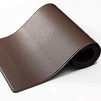 color&geometry tappeto cucina antiscivolo, pvc tappeto runner antiscivolo, impermeabile, resistente all'olio durevole tappetino zerbino lavabile - 45 x 150 cm, marrone