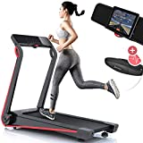 Sportstech F17 treadmill model 2020 - German Quality Brand + Video Events & Multiplayer App - NEW console - | 2,5HP to 12km/h | running machine with 13 programs, incline + foldable, for cardio (F17)