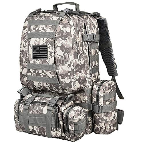 NOOLA Military Tactical Backpack Army Assault Pack Built-up Molle Bag Rucksack ACU