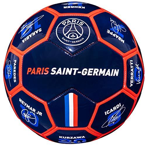 PSG Ballon Signatures des Joueurs Neymar Mbappé Cavani Navas Sarabia Di Maria - Collection Officielle Paris Saint Germain - T 5
