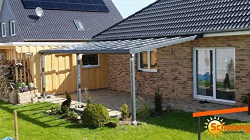 Hochwertige Terrassenüberdachung Schweng 16mm Polycarbonatplatten B: 5,00m x 4,00m T