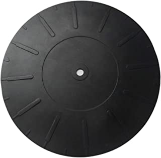 Ywhomal 7 inch Turntable Platter Mat Rubber Silicone Turntable Slipmat Pad for All LP Vinyl Record Players Black