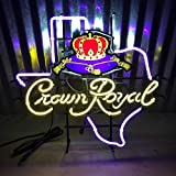 Queen Sense 24'x20' Crown Royal Texas Neon Sign (VariousSizes) Beer Bar Pub Man Cave Business Glass...