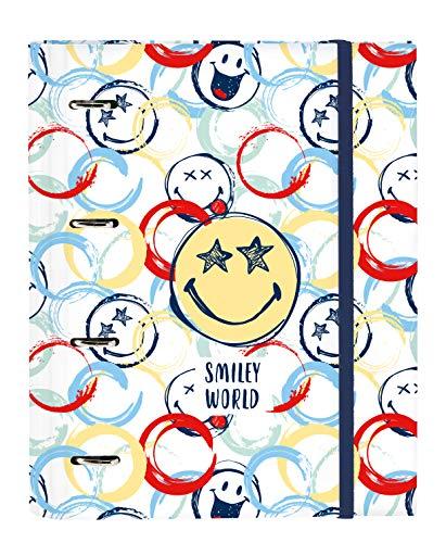 Safta- Smiley Carpeta 4 Anillas de 30mm, Multicolor, 270x35x320 mm (512090666)