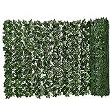 Siepe artificiale verde foglia artificiale Ivy recinto privacy muro vegetale simulato Sfondo Erba decorativo per esterna del giardino Balcone 0.5x3m Garden Decor