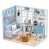 Miniatura De Casa De Muñecas con Muebles, Kit De Casa De Muñecas DIY Regalo De Cumpleaños para Niñas Dream House