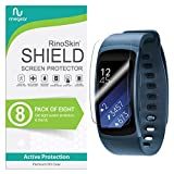 (8-Pack) RinoGear Samsung Gear Fit2 Screen Protector Gear Fit 2 Case Friendly Screen Protector for Samsung Gear Fit2 Accessory Full Coverage Clear Film