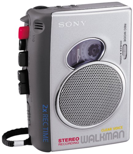 Sony TCS-30D Pressman Cassette Recorder with Stereo Recording/Playback