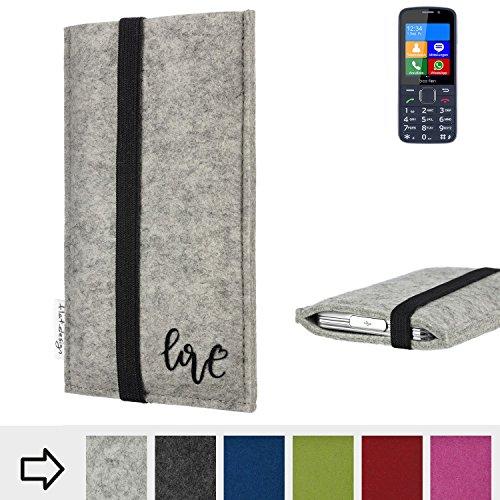 flat.design Handy Hülle Coimbra für bea-fon SL820 personalisierbare Handytasche Filz Tasche Love Liebe
