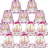 DreamJing 12 Stück Einhorn Kordelzug Party Tasche,Mitgebsel Kindergeburtstag Gastgeschenke Party Beutel,Unterwasser Party Taschen/Mitgebseltüten für Kinder Mädchen Junge Partytüten