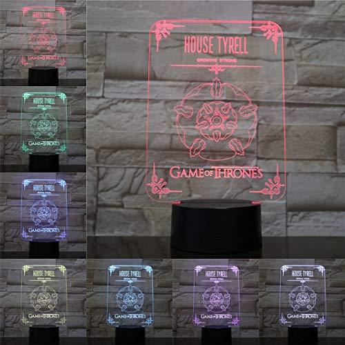 LDLCX Kinder 3D Nachtlicht 7 Farben Touch Light Neuheit Eisenhaus Tyrrell Stimmungslicht Usb-Betriebenes Visuelles Licht Für Kindergeburtstag Weihnachtsdekoration Geschenk