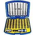 S&R Bit Set 57-teilig mit Bithalter in Handlicher Box, Schrauber Bit Set für Akku-, Schlagschrauber und Bohrmaschine