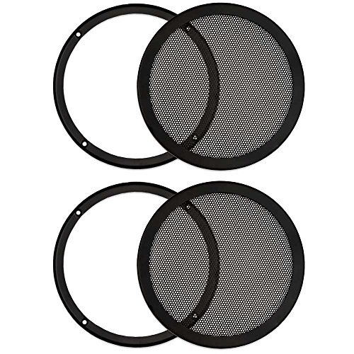 Goldwood Sound, Inc. Monitor Speaker And Subwoofer Part, Heavy Duty Steel Mesh Snap On Woofer Grills for 8' 2 Grill Pack (SG-M8-2)