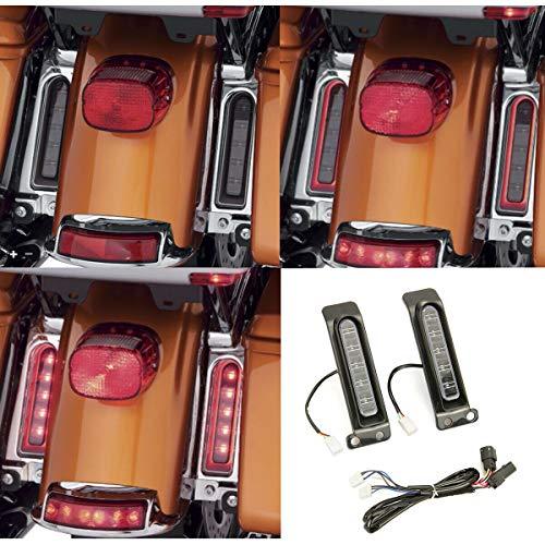 INDNICE Electra Glo Keystone Auxiliary LED Run/Brake/Turn Lamps For Harley FLHTCU rear fender side light FLHTK 14-18