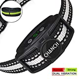Bark Collar Rechargeable [Upgraded 2020] - Anti Barking Collar for Dogs - No Shock Bark Collars with Dual Vibration Motor - Humane Dog Bark Collar Stop Barking for Small Medium Dogs