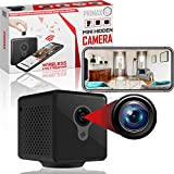 Wireless Spy Camera by Primax - Audio & Night Vision for Indoor Home Surveillance & Small Enough to be Hidden - View Mini Nanny Cam Video on The Phone App with WiFi - No Micro SD Card Needed