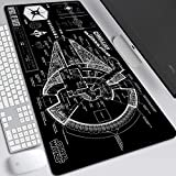Granja Gaming Mouse Pad Skywalker Rise Star Wars 9 Extended Keyboard Alfombrilla De Raton 900x400mm Oversize Mousepad for computadora PC Desk Office (Color : 16)