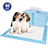 PetsBark 40 Count Puppy Pads, Dog Pee Pads Training and Pee Pads for Pets 5-Layer Design Super Quick Absorbent Perfect for Puppies, Smaller Dogs 23.623.6