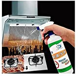 TOMEX 500Ml Kitchen Oil & Grease Stain Remover Chimney & Grill Cleaner Non-Flammable Nontoxic & Chlorine Free Grease Oil & Stain remover for Grill Exhaust Fan & Kitchen Cleaners (500 Ml)