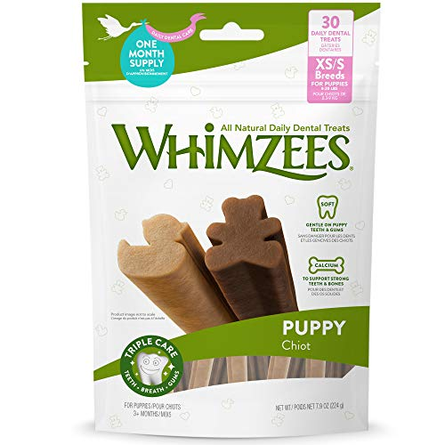 WHIMZEES Puppy Daily Dental Dog Treats, Toy and Small Breeds, Extra Small, Bag of 30