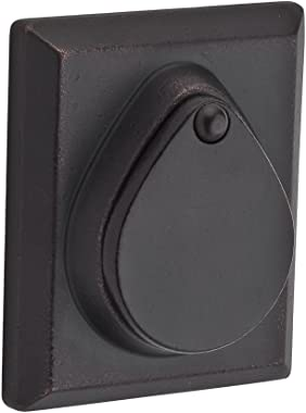 Baldwin SC.RSD.481.6L.DS.CKY.KD Rustic Square Single Cylinder Deadbolt, Dark Bronze