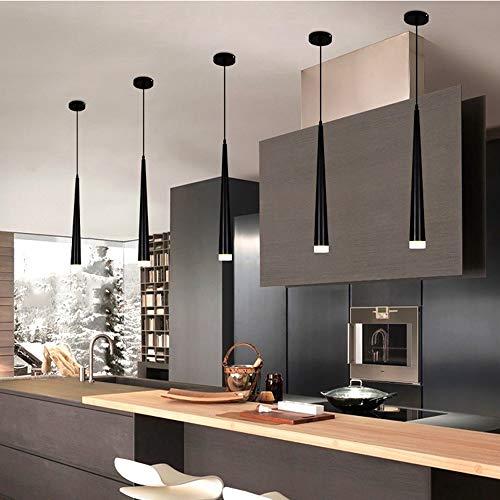 Araña de luces Araña for sala de estar comedor silla sitio acrílico lámpara comedor Cocina Isla luz pendiente 6x52.5x6cm Shade Luz colgante