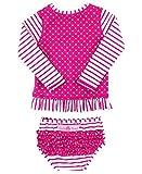 RuffleButts Little Girls Berry Striped Polka LS Rash Guard Bikini - Purple - 3T uninterruptible power supply May, 2021