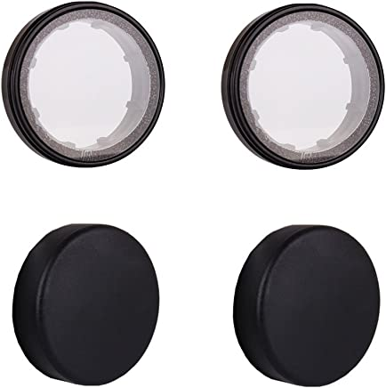HOLACA Camera Universal Lens Cap Silicone Waterproof Lens Cover Protector for Most DSLR Lenses,Strong Protection Lens Cover for 54-71mm Lenses S Size 2 Pack