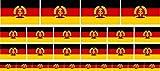 Mini Aufkleber Set - Pack glatt - 4x 51x31mm+ 12x 33x20mm + 10x 20x12mm- Sticker - DDR Flagge - Banner - Standarte fürs Auto, Büro, zu Hause und die Schule -...