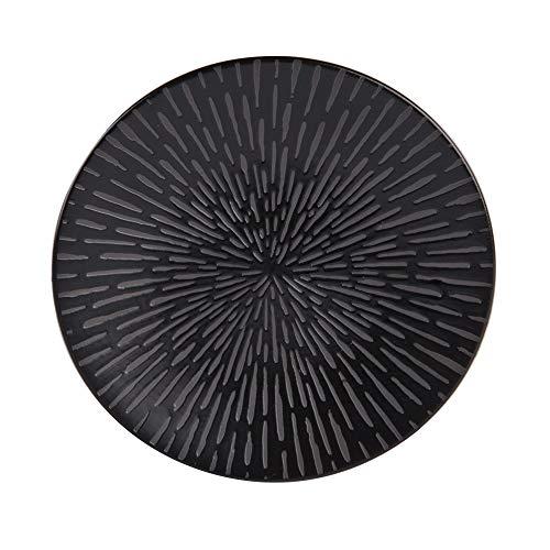 - assiette à dessert comète 21 cm noir (lot de 6)