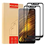 [2-Pack] Xiaomi Pocophone F1 Screen Protector,PULEN 0.3MM Slim [Full Screen Coverage] [Anti-Fingerprints] [Anti-Scratch] 9H Hardness Tempered Glass Film for Xiaomi Pocophone F1 (Black)