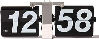 HXZB Rétro Mécanique Automatique Flip Clock, Operated Engrenage Interne Grande Horloge Murale pour Salon Et Bureau Décorat...