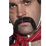 Smiffys Moustache tenancier mexicain western authentique, noire, autoadhésive