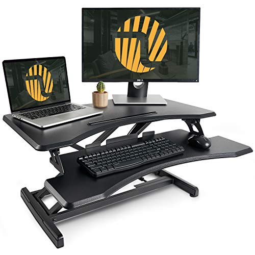 Standing Desk with Height Adjustable – FEZIBO Stand Up Desk Converter, 33...