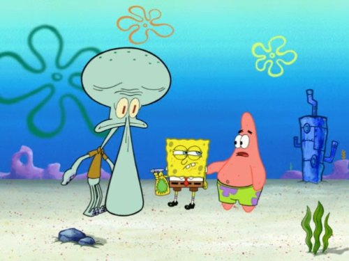 Giant Squidward/No Nose Knows