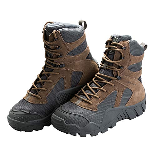 FREE SOLDIER Men's Tactical Boot All Terrain Suede Leather Shoes Outdoor Hiking Military Boots(Coyote Brown, 6.5 M US)