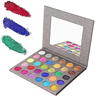 Glitter Eyeshadow Palette 30 Colors Professional Makeup Pallet Shimmer Highly Pigmented Powder Cosmetics Long Lasting Waterproof Eye Shadow With Mirror