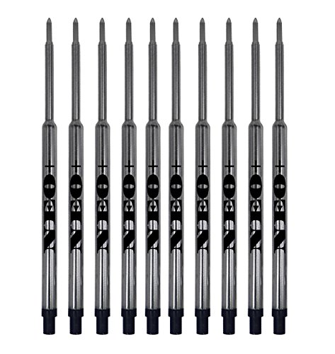 Venditore UK Set di ricariche per penne a sfera Waterman, a tratto medio e rullo morbido SET OF 10 BLACK INK